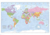 Political World Map - Miller Projection (large) by Giant
