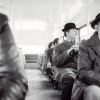 A City Gent on the Top Deck of a Bus by Henry Grant