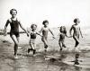 Children on the beach at Bognor, 1933 by Mirrorpix