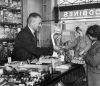 Harold Larwood in his sweetshop, Blackpool 1949 by Mirrorpix