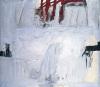 Blau mit vier roten Staben, 1966 by Antoni Tapies