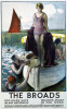 The Broads - Girl on Boat by National Railway Museum