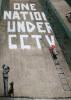 Banksy - Newman Street (B&W) by Panorama London