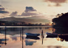 Merimbula Lake At Sunset by Kirsty McLaren