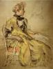 Dress Study by Carl Larsson