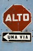 Road sign, Antigua, Guatemala by Sergio Pitamitz