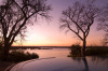 The River Club lodge, sunset on Zambesi River, Zambia by Sergio Pitamitz