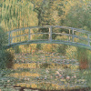 The Waterlily Pond, Green Harmony by Claude Monet