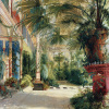 Interior of the Palm House at Potsdam II by Carl Blechen