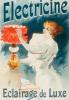 Electricine Parafin, 1895 by Lucien Lefevre