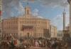 The Lottery in Piazza di Montecitorio by Giovanni Paolo Panini