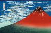 Red Fuji by Katsushika Hokusai