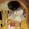 The Kiss (detail) by Gustav Klimt