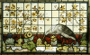 A Stained Glass Panel (One Of a Pair) (Sunflower) by Anonymous