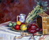 Nature Morte - Fruits, Pichets et Legumes, c.1910 by Jean-Baptiste-Armand Guillaumin