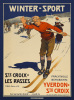 Winter-Sport Switzerland, 1905 by Edouard Eizingre