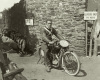 HF Harris on his AJS, Isle of Man by Anonymous