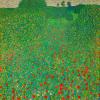 A Field of Poppies by Gustav Klimt