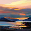 Red on the Cuillin by Pam Carter