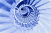 Blue Spiral Staircase by Richard Osbourne