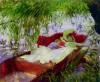 Lady & Child Asleep in a Punt by John Singer Sargent