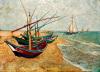 Fishing Boats on the Beach at Saintes-Maries by Vincent Van Gogh