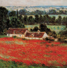 Field of Poppies at Giverny (detail) by Claude Monet