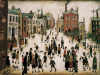 A Village Square by L S Lowry