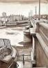 London Bridges & the Gherkin - Battersea Bridge by Mark Raggett