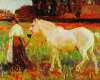 The Poppy Field by Sir Alfred Munnings