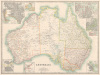 Australia Map 1880 by Keith Johnson