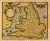 Angliae Regni Florentissimi Nova Descriptio 1573 by Abraham Ortelius