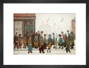 Waiting for the Shops to Open by L S Lowry