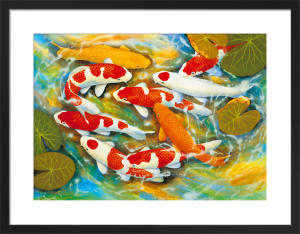 Koi-Carp by B. Lee