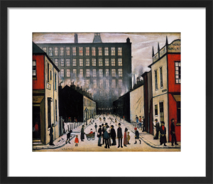 Street Scene (Pendlebury) - (small) by L S Lowry