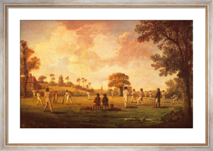 A Game of Cricket, 1790 by Anonymous