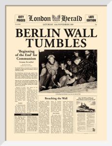 Berlin Wall Tumbles by London Herald
