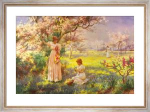 Spring, Picking Flowers by Alfred Augustus Glendening