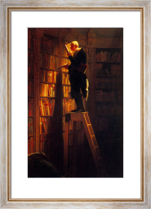 The Bookworm (m) by Carl Spitzweg