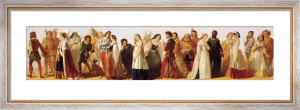 Procession of Shakespeare Characters by Daniel Maclise