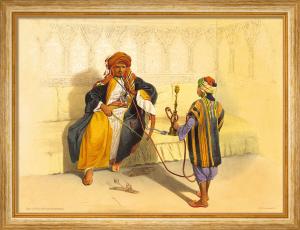 Arab Sheikh Smoking by Emil Prisse