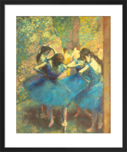 Blue Dancers by Edgar Degas
