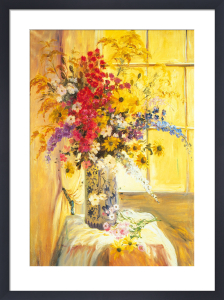 Floral Window by Elizabeth Parsons
