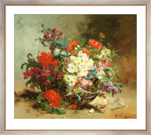 A Basket of Flowers by Eugene Henri Cauchois