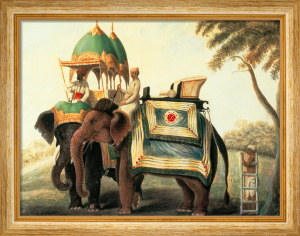 Indian Elephants I by Indian School