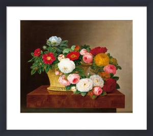 Still Life of Roses in a Basket by Jodi Jensen