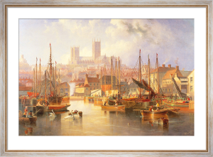 The Brayford Pool and Lincoln Cathedral by James Wilson Carmichael