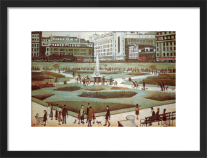 Piccadilly Gardens by L S Lowry