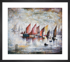 Sailing Boats by L S Lowry