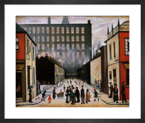 Street Scene (Pendlebury) - (medium) by L S Lowry